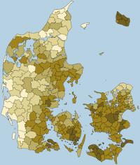 Radonkort for Danmark
